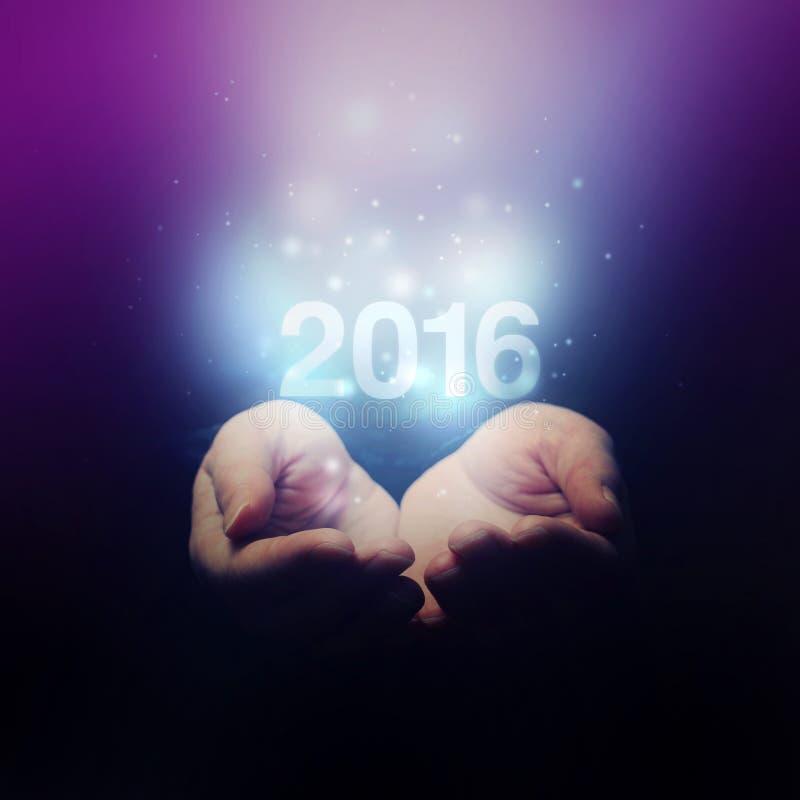 Lyckligt nytt 2016 år arkivfoton