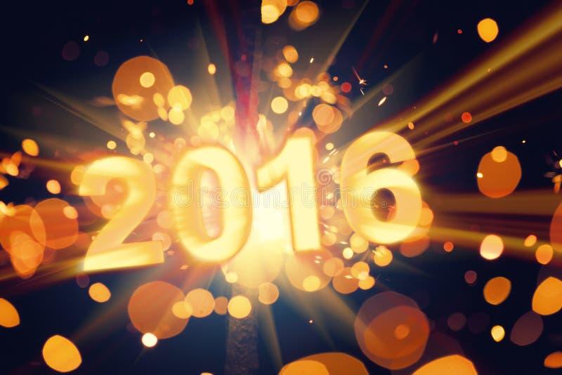Lyckligt nytt år 2016 royaltyfri bild