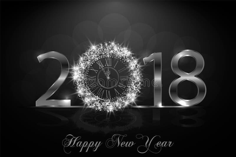 Lyckligt nytt år 2017 Det kan vara nödvändigt för kapacitet av designarbete royaltyfri illustrationer