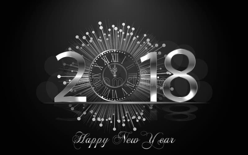 Lyckligt nytt år 2017 Det kan vara nödvändigt för kapacitet av designarbete vektor illustrationer