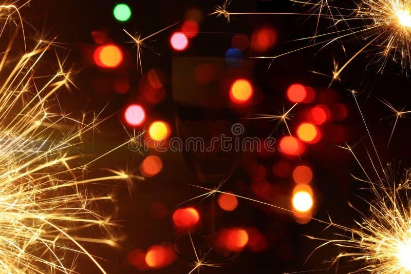 lyckligt nytt år för bakgrundsfyrverkerier vektor illustrationer