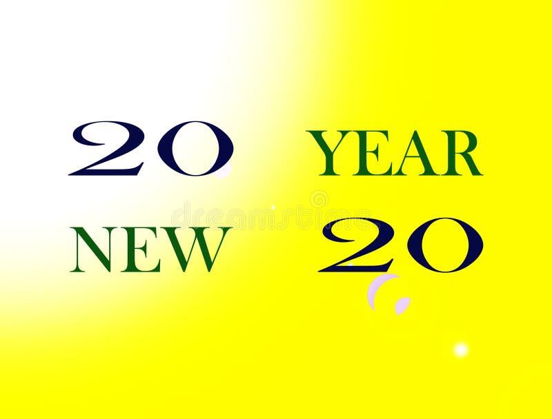 Lyckligt nytt år för bild stock illustrationer