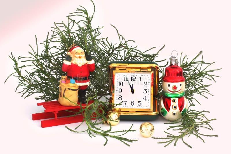 lyckligt nytt år för julsammansättning för bauble blått exponeringsglas royaltyfria bilder