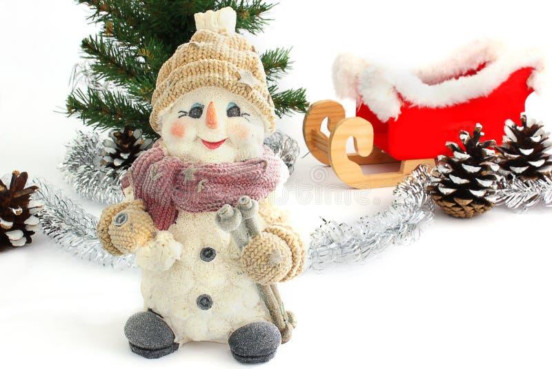lyckligt nytt år för julsammansättning för bauble blått exponeringsglas arkivfoton