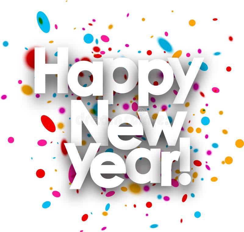 lyckligt nytt år för kort vektor illustrationer