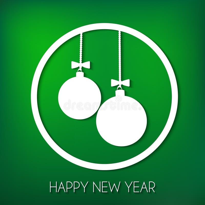 lyckligt nytt år för kort royaltyfri foto