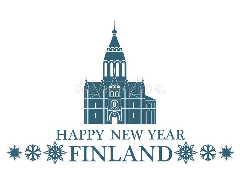 Lyckligt nytt år Finland royaltyfri illustrationer