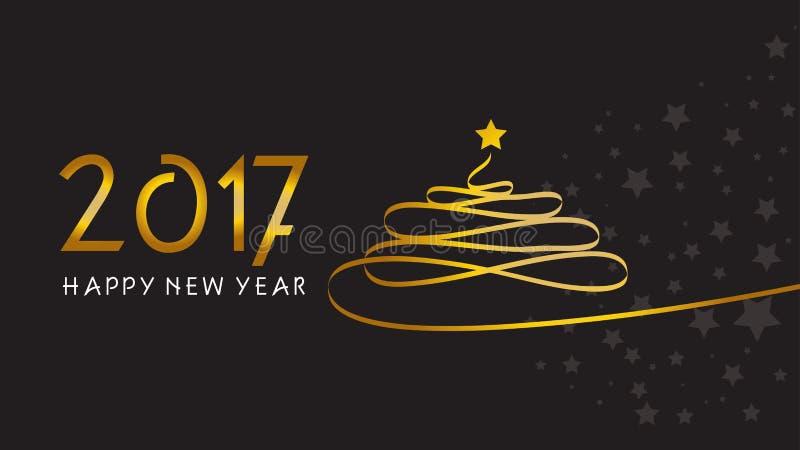 lyckligt nytt år jul min version för portföljtreevektor stock illustrationer
