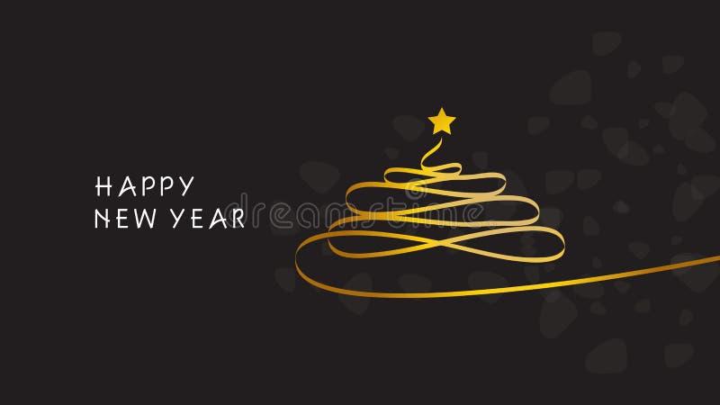 lyckligt nytt år jul min version för portföljtreevektor vektor illustrationer
