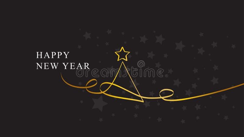 lyckligt nytt år jul min version för portföljtreevektor royaltyfri illustrationer