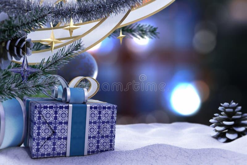 Lyckligt nytt år och glad julsammansättning royaltyfri fotografi