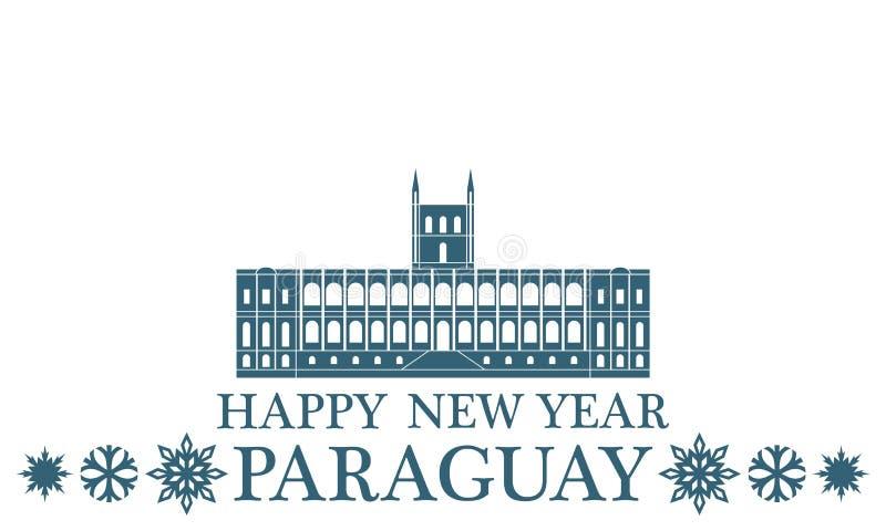 Lyckligt nytt år Paraguay vektor illustrationer