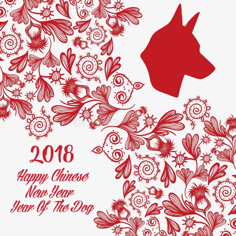 Lyckligt nytt år till det kinesiska horoskopet stock illustrationer