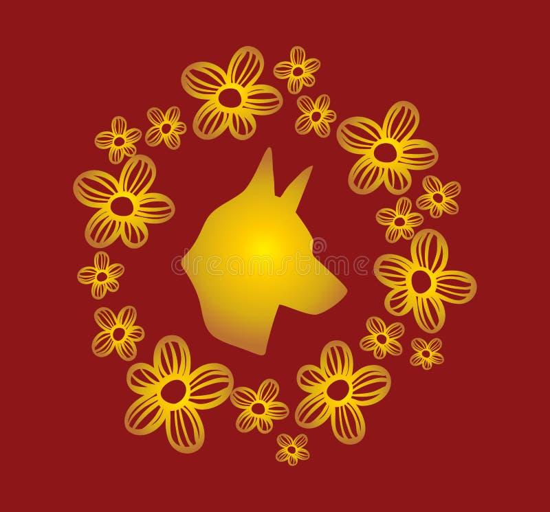 Lyckligt nytt år till kinesisk tradition stock illustrationer