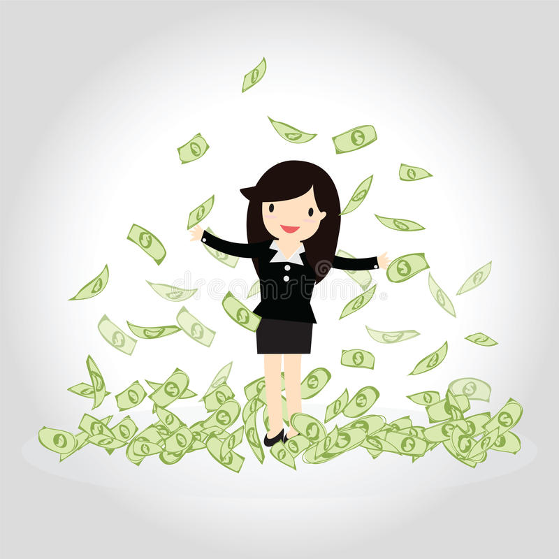 Lyckligt pengarbegrepp royaltyfria bilder