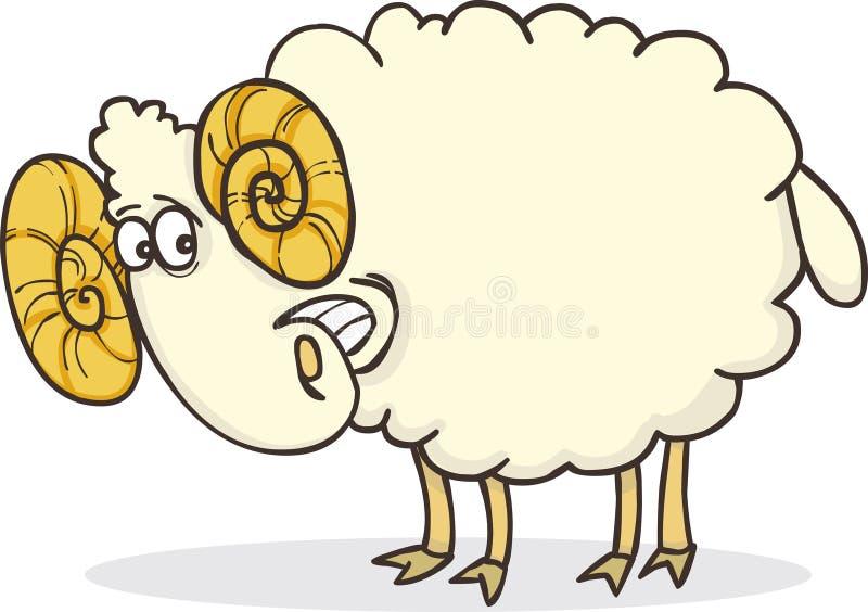 lyckligt RAM royaltyfri illustrationer