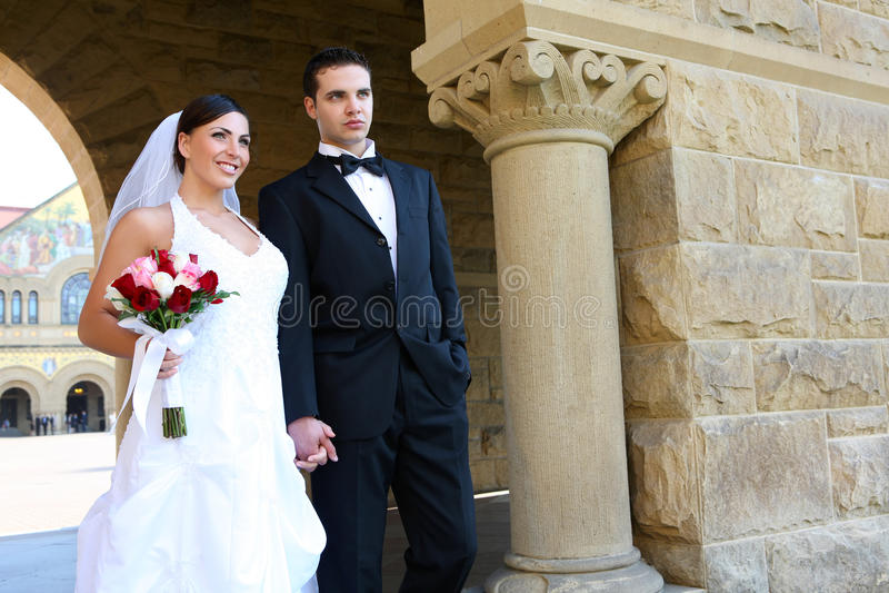 lyckligt SAD bröllop royaltyfri fotografi