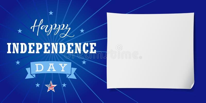 Lyckligt självständighetsdagenUSA baner royaltyfri illustrationer