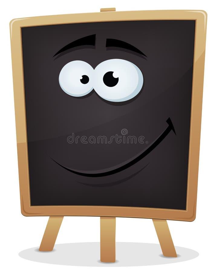 Lyckligt svart tavlatecken för skola stock illustrationer