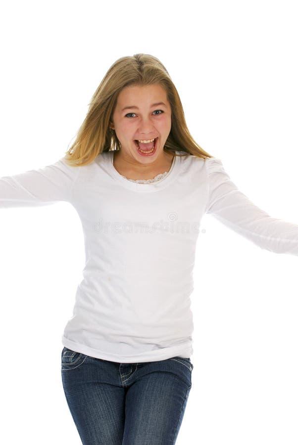 lyckligt teen för flicka arkivbild