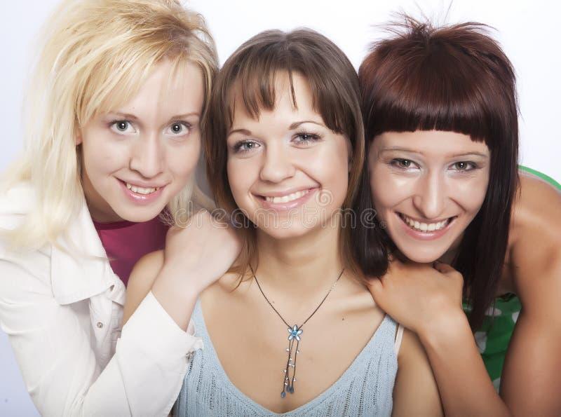 lyckligt teen för flickor arkivfoto