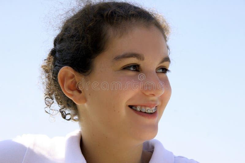 Download Lyckligt Tonårs- För Flicka Arkivfoto - Bild av unge, isolerat: 228468