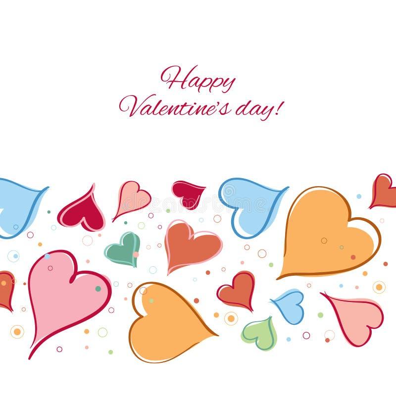 Download Lyckligt valentindagkort. vektor illustrationer. Illustration av romantiker - 37344862