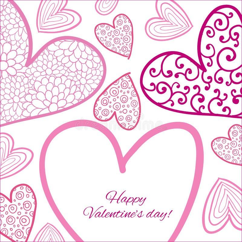Download Lyckligt valentindagkort. stock illustrationer. Illustration av hjärta - 37344992