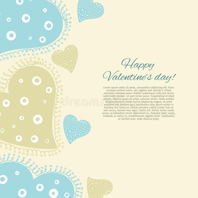Download Lyckligt valentindagkort. vektor illustrationer. Illustration av valentin - 37345120