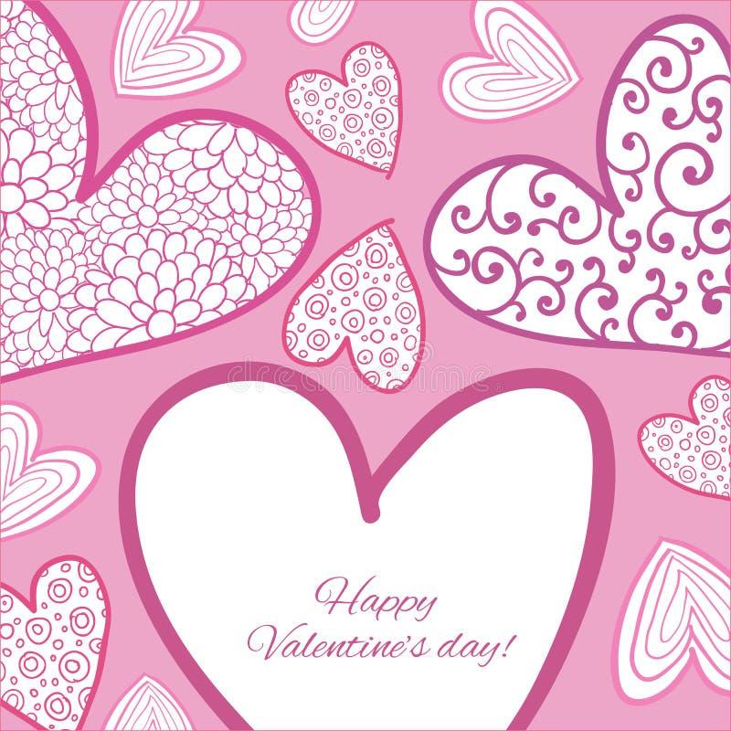 Download Lyckligt valentindagkort. vektor illustrationer. Illustration av garnering - 37345126