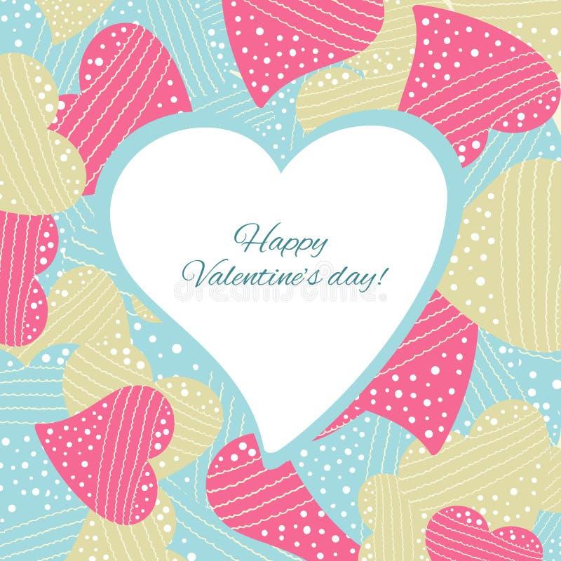Download Lyckligt valentindagkort. vektor illustrationer. Illustration av inbjudan - 37345245