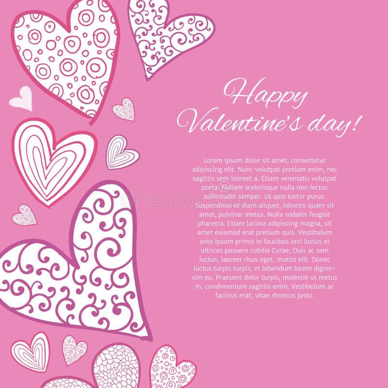 Download Lyckligt valentindagkort. vektor illustrationer. Illustration av utsmyckat - 37345261
