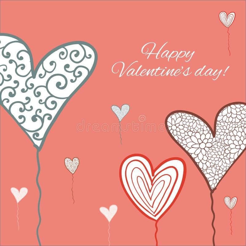 Download Lyckligt valentindagkort. vektor illustrationer. Illustration av typografi - 37345265