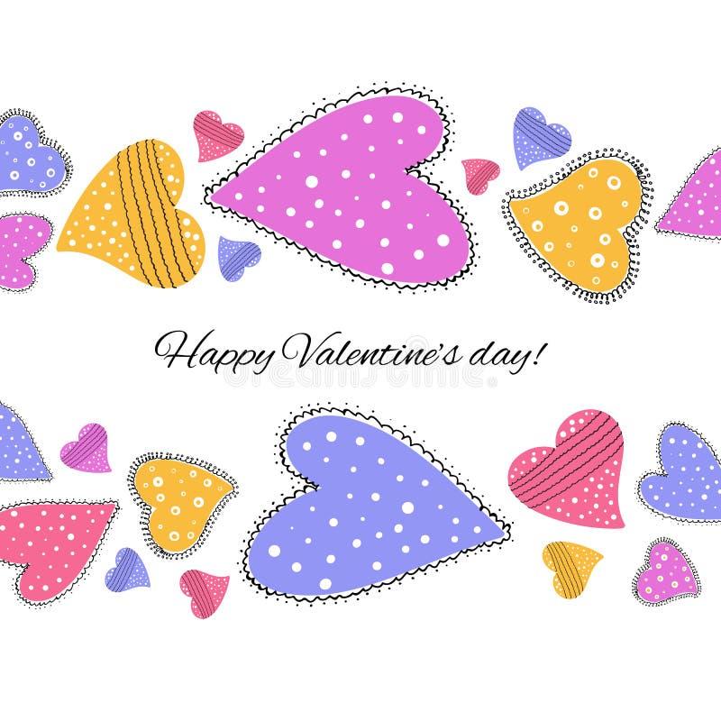 Download Lyckligt valentindagkort. vektor illustrationer. Illustration av valentin - 37345279