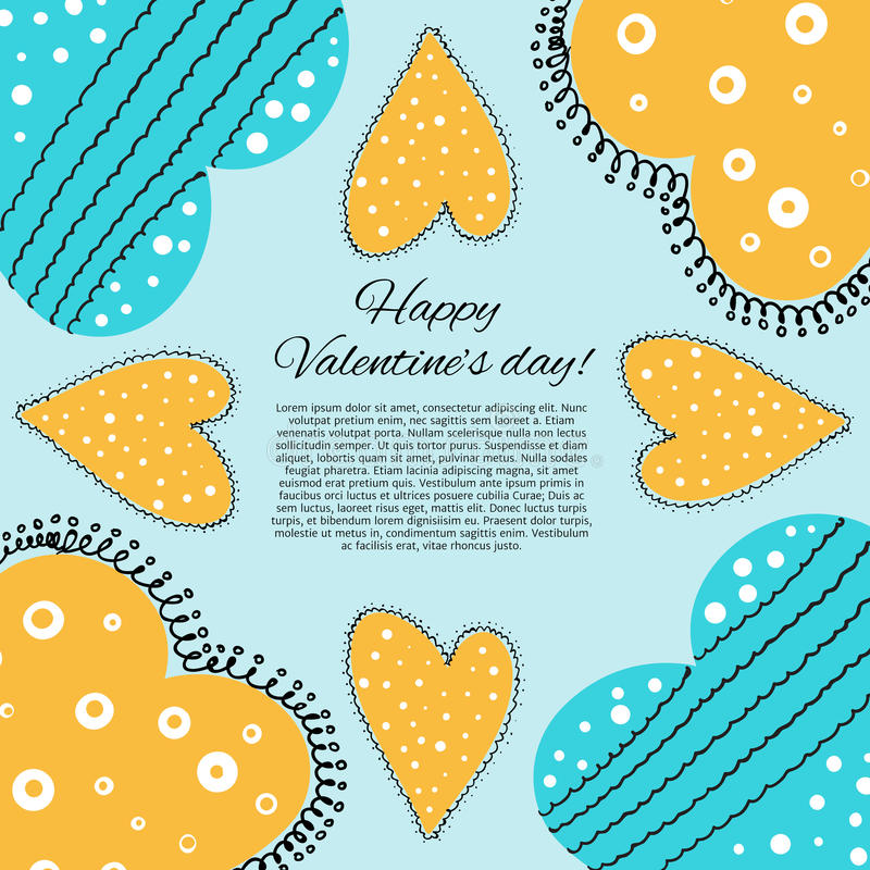 Download Lyckligt valentindagkort. vektor illustrationer. Illustration av symbol - 37347208