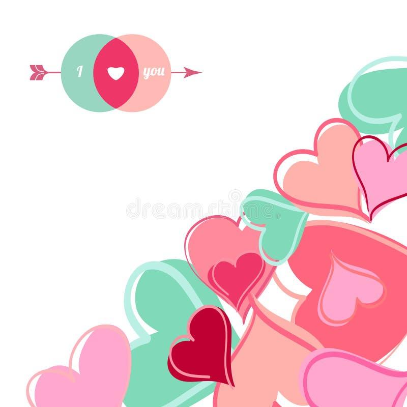Download Lyckligt valentindagkort. vektor illustrationer. Illustration av lyckligt - 37347367