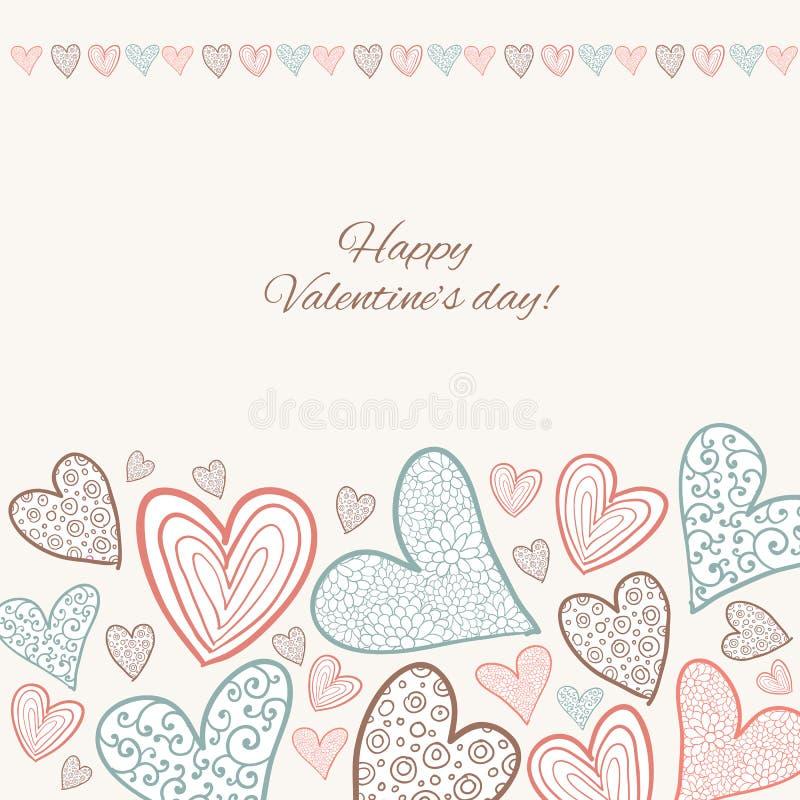 Download Lyckligt valentindagkort. vektor illustrationer. Illustration av romantiker - 37347391