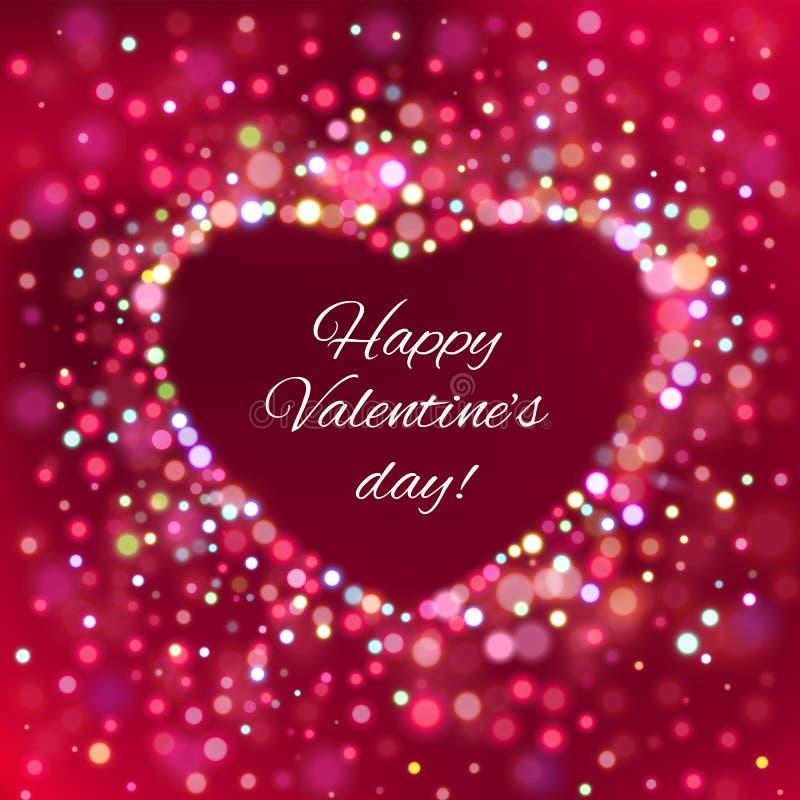 Download Lyckligt valentindagkort. vektor illustrationer. Illustration av dekorativt - 37347562