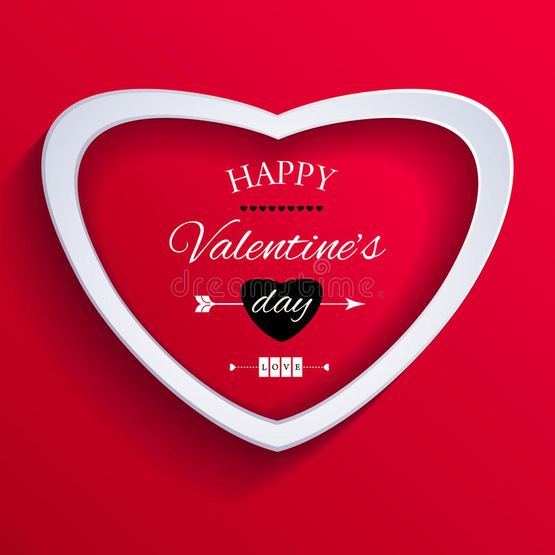 Download Lyckligt valentindagkort. vektor illustrationer. Illustration av lace - 37347622
