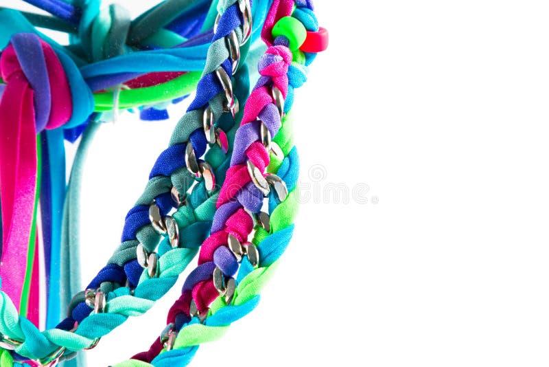 Lycra och chain halsband arkivfoton