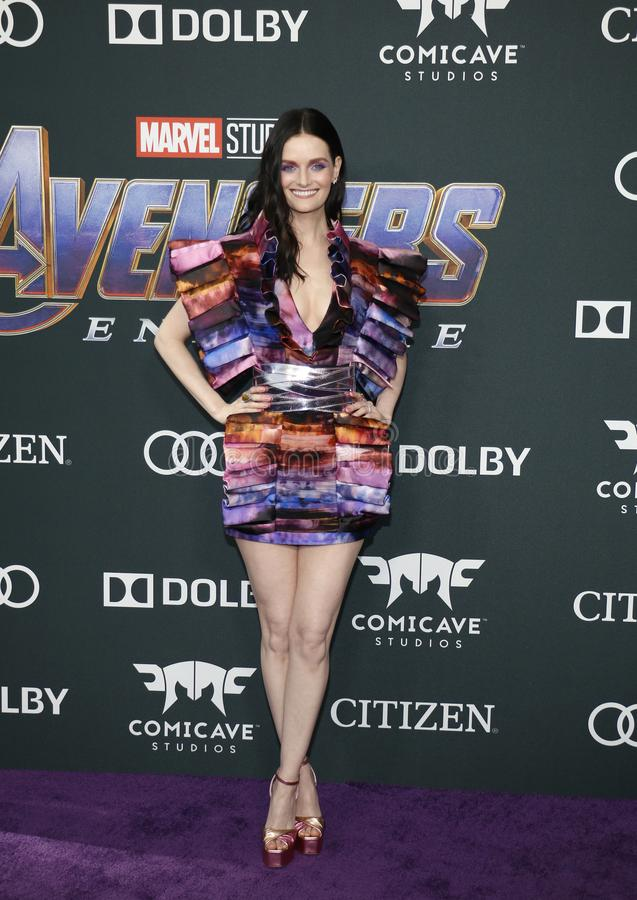 Lydia Hearst. At the World premiere of `Avengers: Endgame` held at the LA Convention Center in Los Angeles, USA on April 22, 2019 stock image