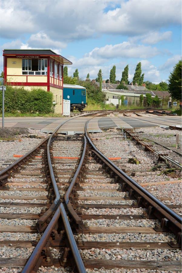 Lydney föreningspunktstation Gloucestershire UK arkivbild