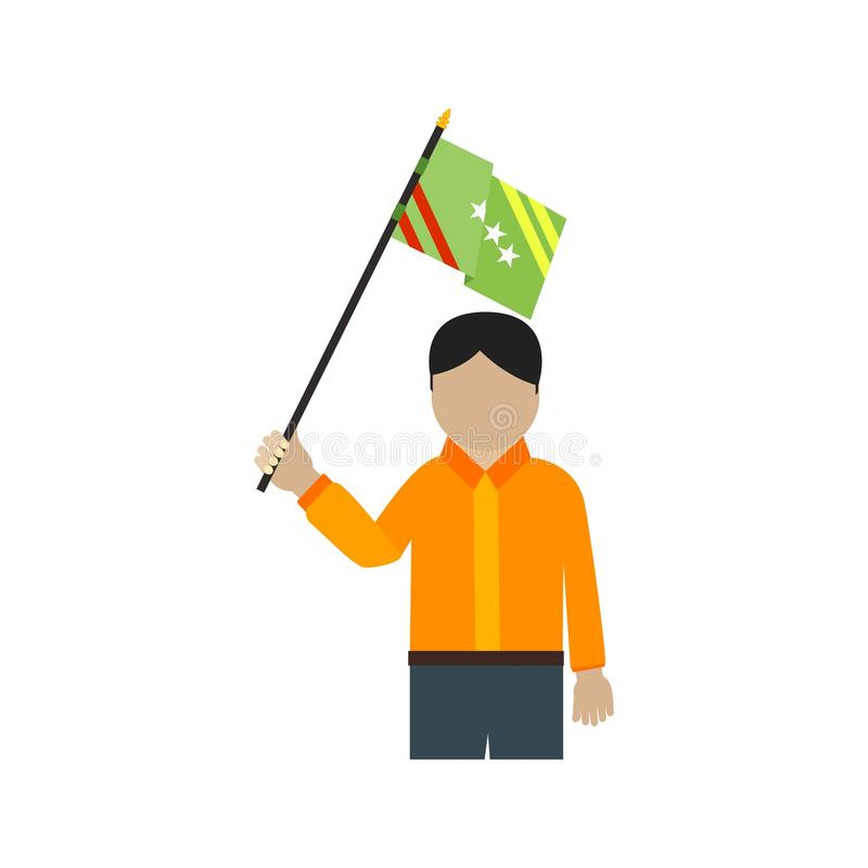 lyfta för flagga vektor illustrationer
