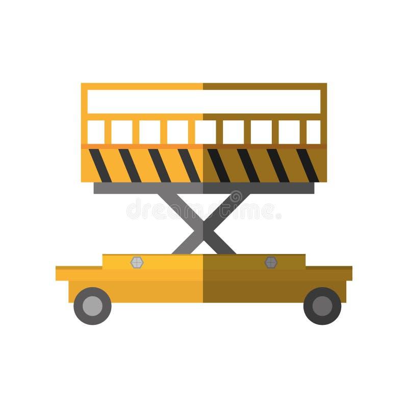 lyftande skugga för lager för plattformspårvagnmateriel vektor illustrationer