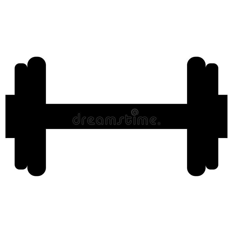 Lyftande vektor för hantel för wieghtsidrottshallkettlebell, Eps, logo, symbol, konturillustration vid crafteroks för olikt bruk  stock illustrationer
