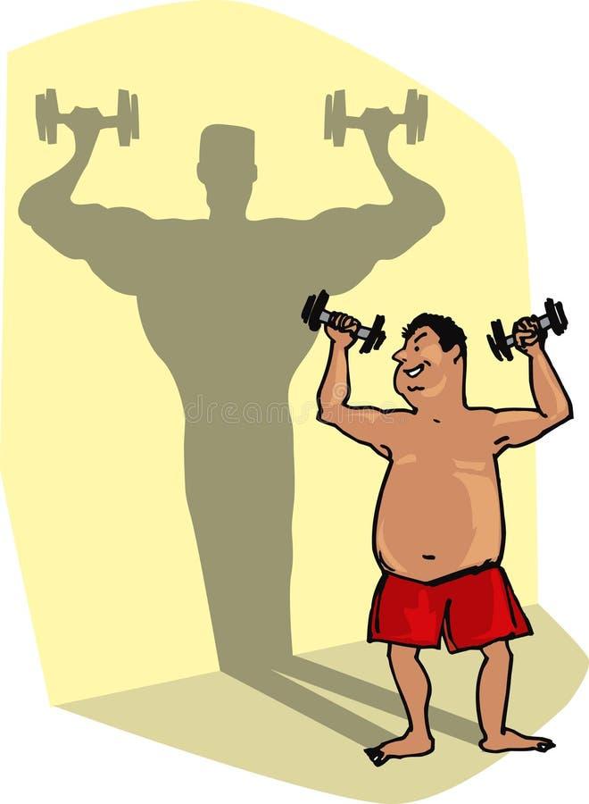 lyftande vikter vektor illustrationer