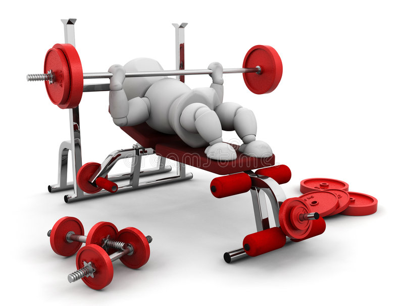 lyftande vikter stock illustrationer