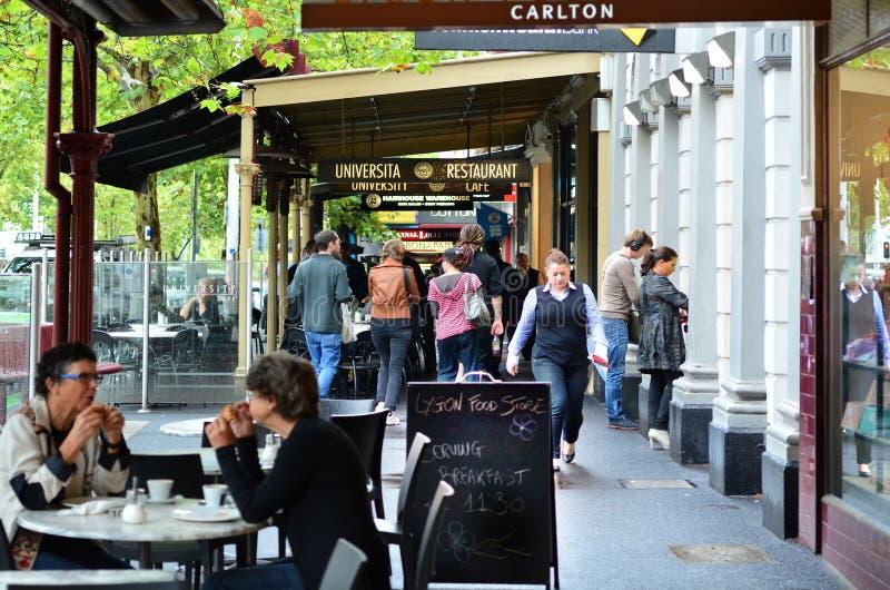 Lygon ulica - Melbourne obrazy stock