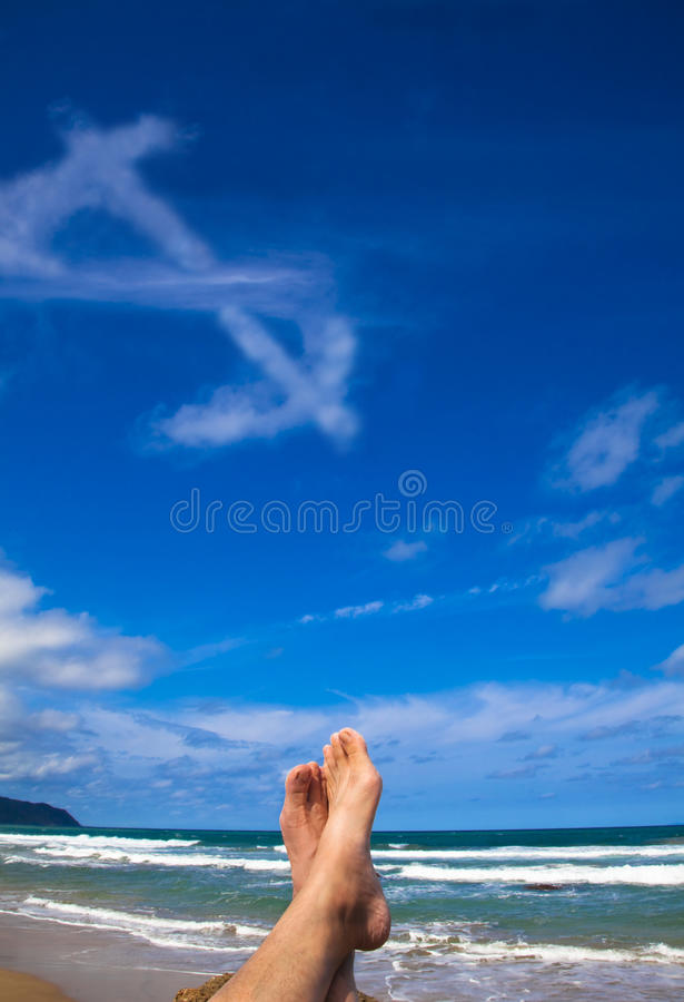 Download Lying On The Beach With Dollar Symbol Stock Photo - Image of lucky, abstract: 14141124