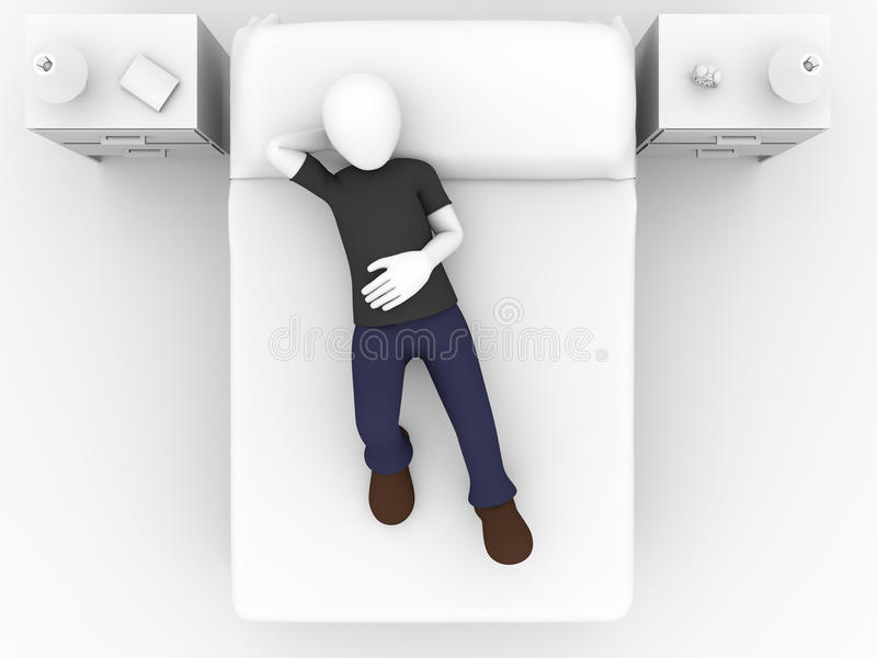 Download Lying in bed stock illustration. Image of reclining, home - 24739996